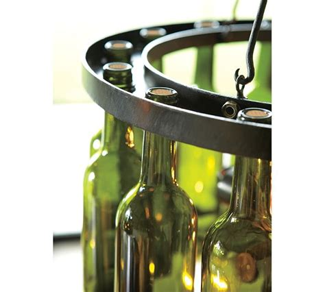 wine bottle chandelier around the house