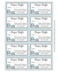 Free Printable Baby Shower Diaper Raffle Ticket Template