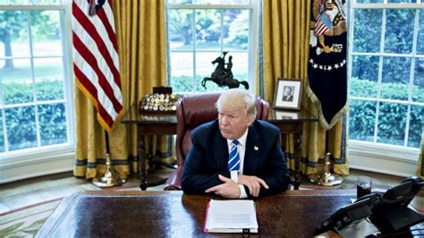 Trump Loves His New Desk In The Oval Office. But It Also
