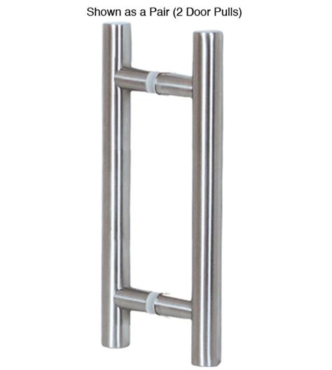16 Inch Contemporary Stainless Steel Glass Door Pulls