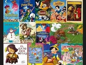 Lista: * Los cuentos originales y las versiones Disney * (historias asombrosamente diferentes)