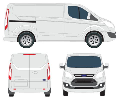 Transit Template Eps by Transit Custom Tourneo Vector Image 123freevectors