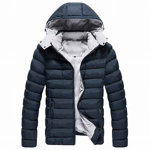 2017 Winter Jacket Men Thick Quilted Jackets Warm Hooded ...