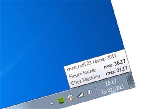 afficher horloge sur bureau windows 7 comment afficher l horloge sur windows 7