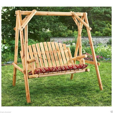 Swing Swing by Wooden Porch Swing Frame Design Ideas