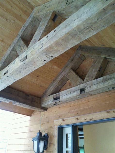 Reclaimed Barn Wood Beams Nc Wormy Chestnut Beams Nc