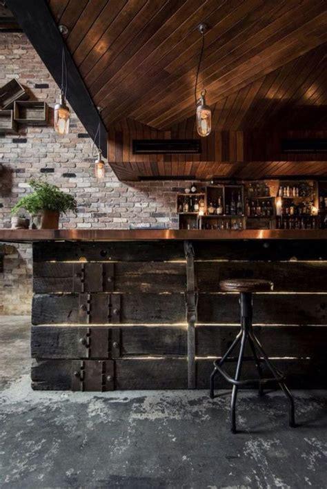 creer un comptoir bar cuisine le comptoir en bois recyclé est une tendance à