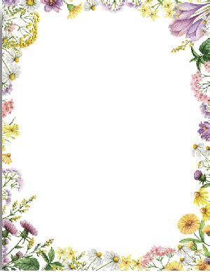 floral border paper paper  floral border