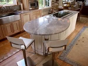 cuisine avec ilot central 43 idees inspirations With idee deco cuisine avec table en pierre