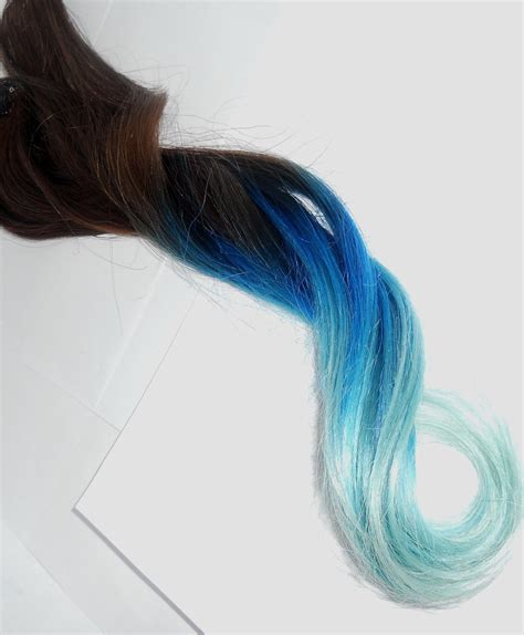 blueaqua  pastel blue aqua tips      full