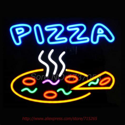decorative neon signs pizza neon sign glass handicrafted custom logo
