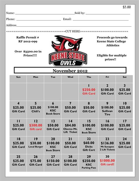 ticket template gameday win big while giving back keene state