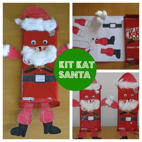 homemade teacher gift idea kit kat santa learning  kids