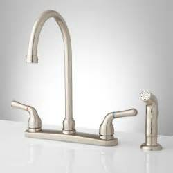 kitchen faucet handles sanibel lever handle gooseneck kitchen faucet with spray kitchen