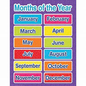 Color My World Months Of The Year Chart