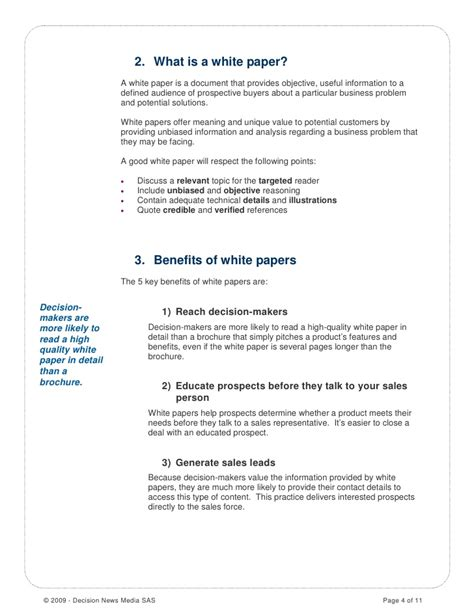 White Paper Outline Template by How To Write A White Paper