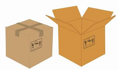 Open Closed Boxes Clipart Svg