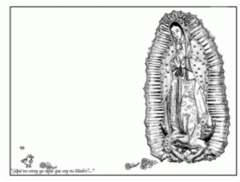 La Virgen De Guadalupe Coloring Pages Natashamillerweb