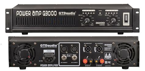 2 Channel 3000 Watts Professional Power Amplifier Amp