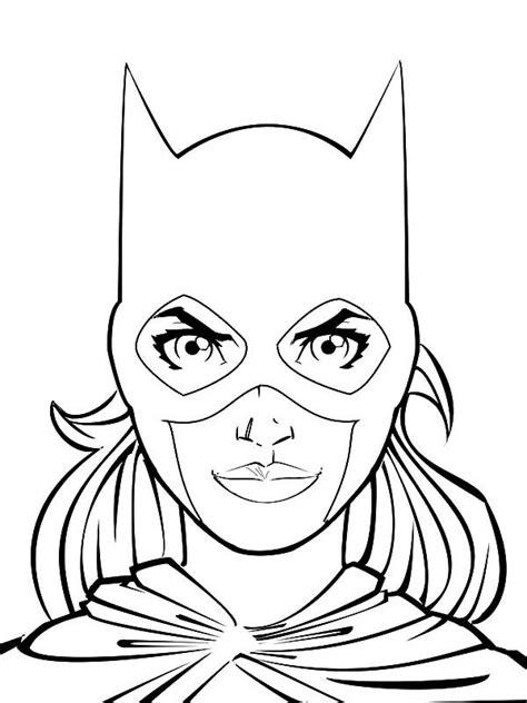 batgirl head picture coloring pages  place  color