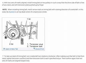 Timing Marks  Is There Any Timing Mark Diagrams For The