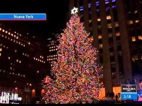 encienden el 225 rbol de navidad en nueva york youtube