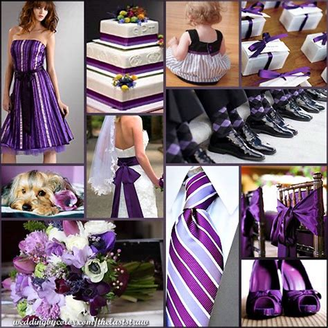 black silver  purple wedding ideas  pinterest