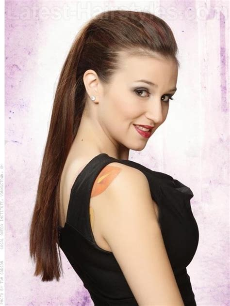 long  straight  updo hairstyle