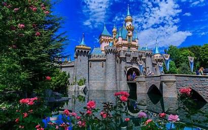 Castle Disneyland Sleeping Beauty California Anaheim Wallpapers