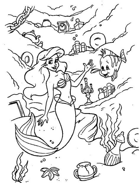 mermaid coloring pages disney  printable