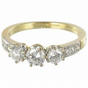 diamond gold trinity engagement ring for sale at 1stdibs With trinity wedding ring