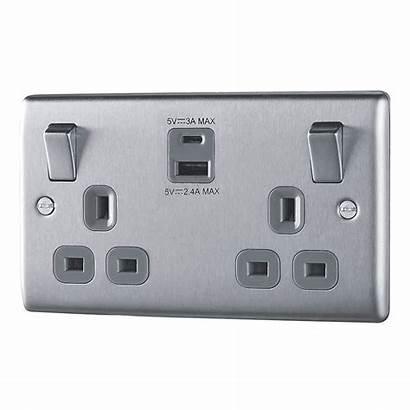 Usb Plug Nexus Socket 13a Metal Double