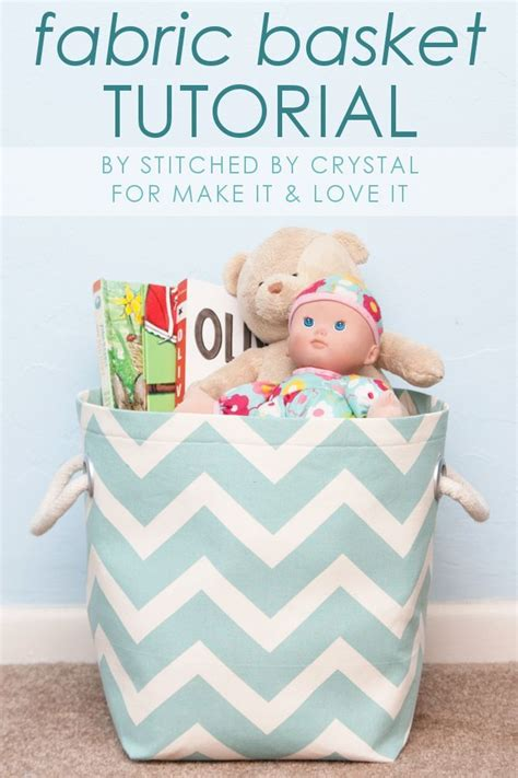diy fabric storage basket with handles make it and