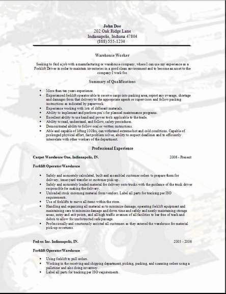 Free Sle Warehouse Resumes pin by staffmasters on search resume tips