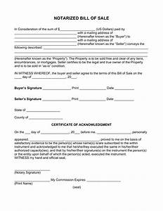 Free Notarized Bill Of Sale Form Pdf Word Eforms