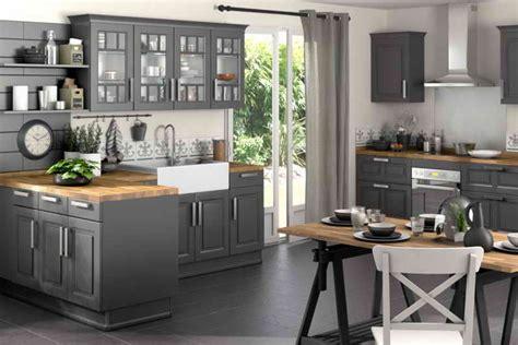 cuisine gris et noir cuisine noir et gris decoration 20 feb 18 13 00 28