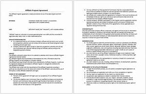 affiliate program agreement template microsoft word With commission only contract template