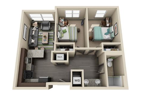 two bedroom apartment room types uk housing
