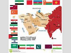 De Kaart Van Het MiddenOosten Vector Illustratie