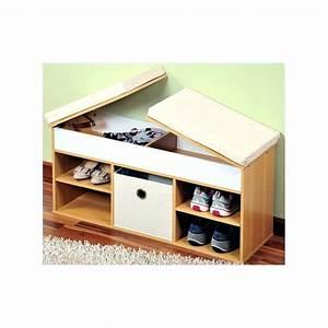 Banc Meuble Chaussure : meuble a chaussure avec banc petit meuble a chaussures ~ Teatrodelosmanantiales.com Idées de Décoration