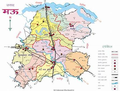 Mau Map District India Forest Area Uttar