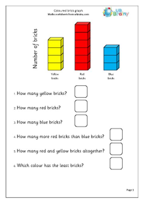 coloured brick graph statistics handling data maths
