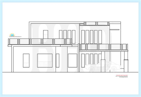 beautiful contemporary luxury villa  floor plan house design plans