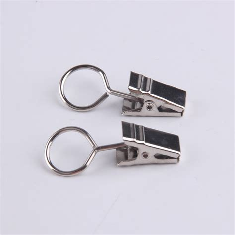 small metal curtain rod clip rings for curtain panels