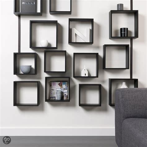 gamma muurdecoratie duraline kubussen wanddecoratie set van 3 zwart