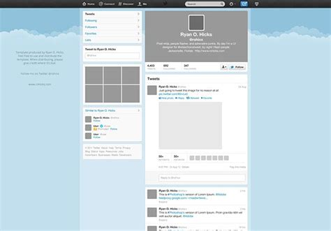 twitter template download for word free psd website templates available for download