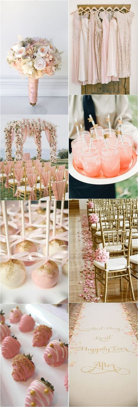 10+ Mesmerizing Your Wedding Flowers Ideas Pink and gold