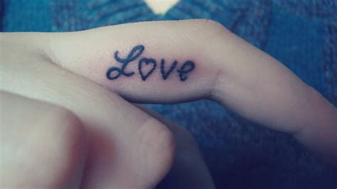 love tattoos  fingers