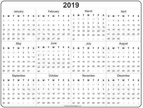 year calendar yearly printable calendar
