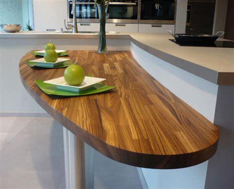 cuisines leicht plan de travail en bois lequel choisir inspiration